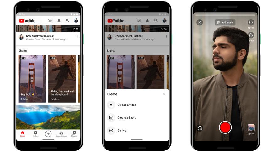 YouTube запускает сервис коротких видеороликов YouTube Shorts
