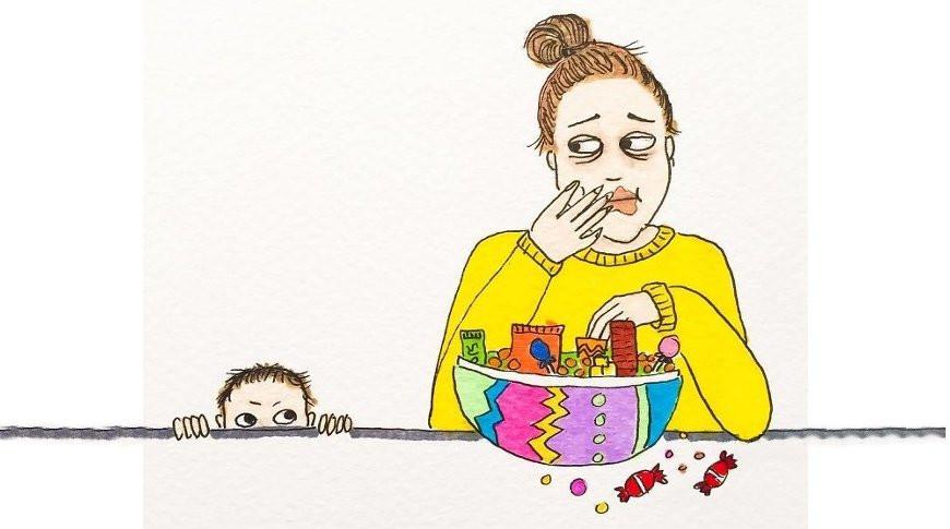 Мама из Норвегии делает рисунки про жизнь с ребенком, в которых многие узнают себя