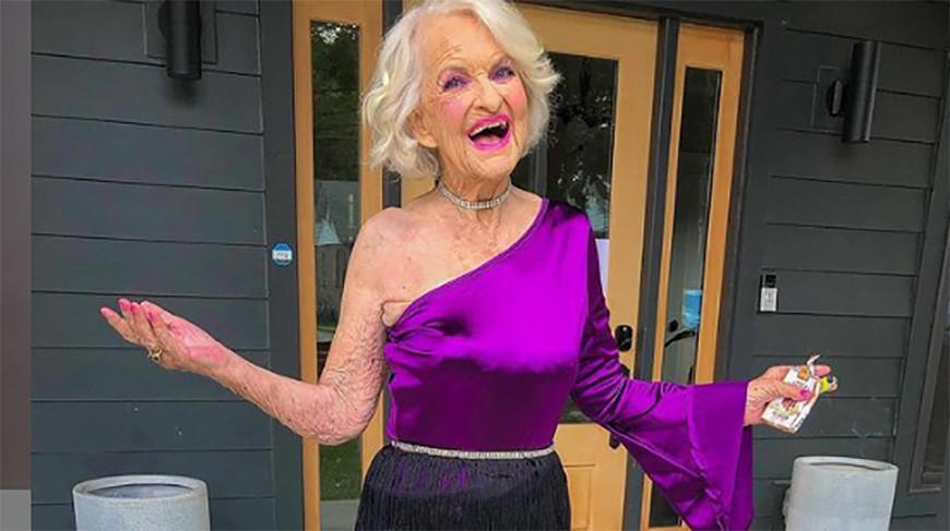 Топовая бабушка Instagram восхитила внешним видом - ей 92, она иногда носит латекс
