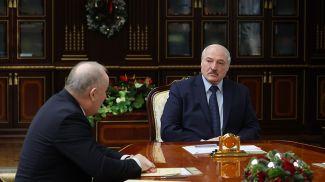 Павел Каллаур и Александр Лукашенко