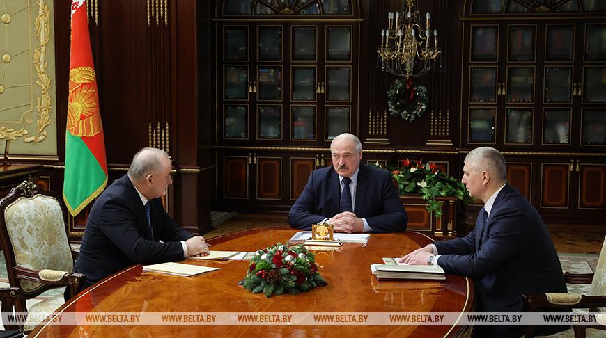 Павел Каллаур, Александр Лукашенко и Валерий Бельский