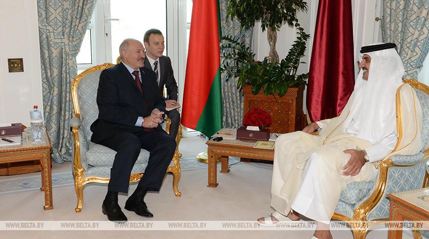 Президент Беларуси Александр Лукашенко и Эмир Катара шейх Тамим бен Хамад аль-Тани. Фото из архива