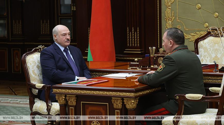 Александр Лукашенко и Виктор Хренин