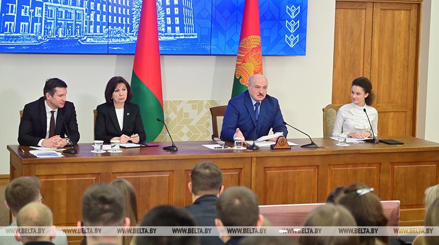 Александр Лукашенко на встрече со студентами