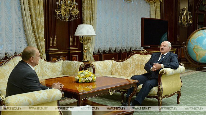 Геннадий Зюганов и Александр Лукашенко. Фото из архива