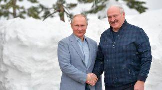 Владимир Путин и Александр Лукашенко. Фото пресс-службы Президента РФ - БЕЛТА