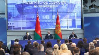Александр Лукашенко во время собрания