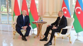 Александр Лукашенко и Ильхам Алиев