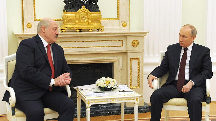 Александр Лукашенко и Владимир Путин. Фото пресс-службы Президента РФ