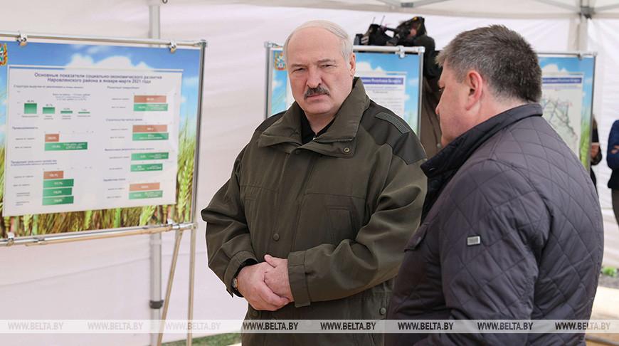 Александр Лукашенко во время посещения наровлянского участка Полесского государственного радиационно-экологического заповедника