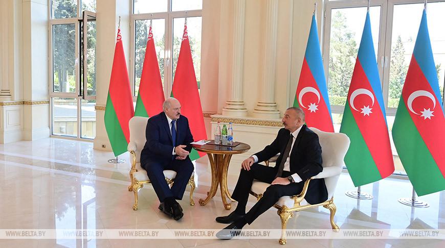 Александр Лукашенко и Ильхам Алиев. Фото из архива