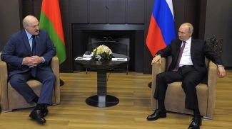 Александр Лукашенко и Владимир Путин. Фото пресс-службы Президента РФ - БЕЛТА