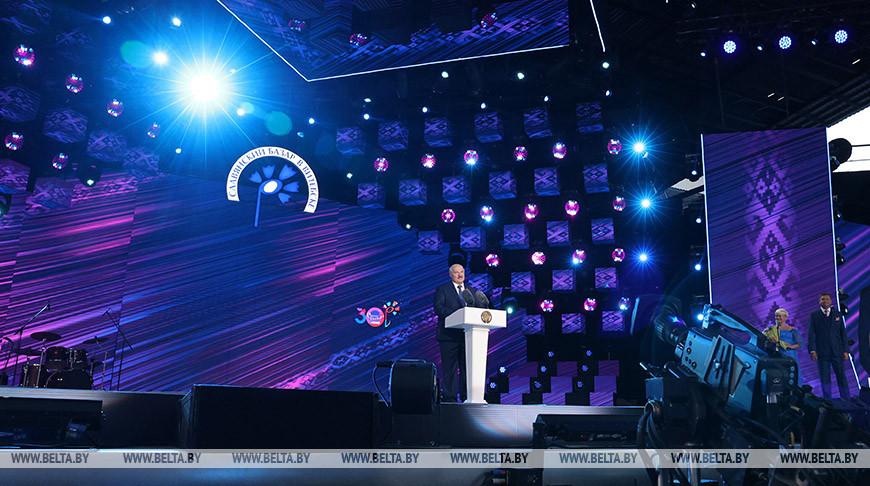 Александр Лукашенко во время церемонии открытия