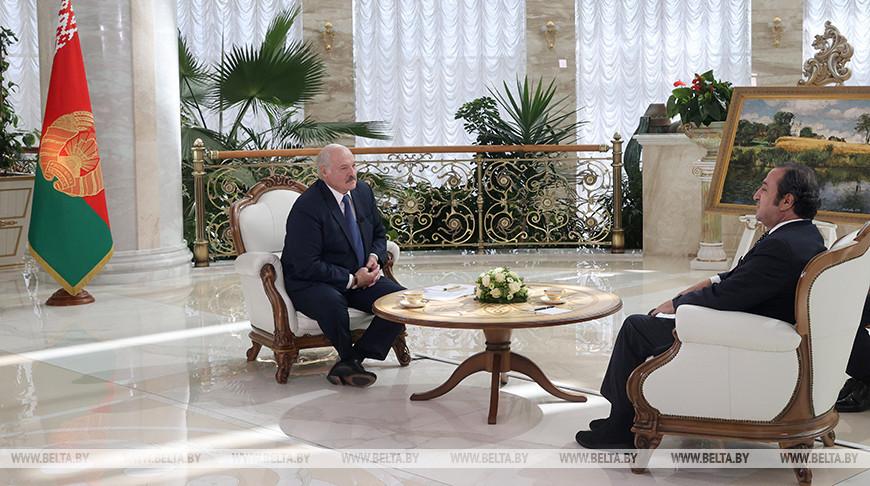 Александр Лукашенко и Имад аль-Атраш