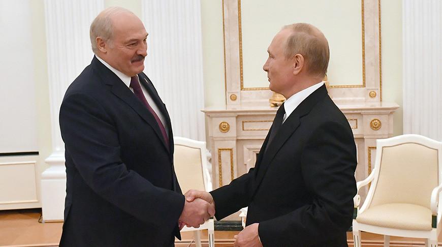 Александр Лукашенко и Владимир Путин. Фото пресс-службы Президента России