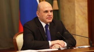 Михаил Мишустин во время встречи