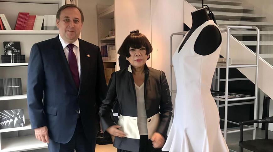 Руслан Есин и Джунко Косино. Фото посольства Беларуси в Японии