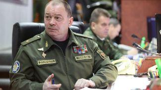 Игорь Голуб на центральном командном пункте ВВС и войск ПВО