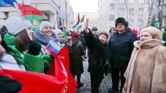 Светлана Коптева во время акции. Фото из архива