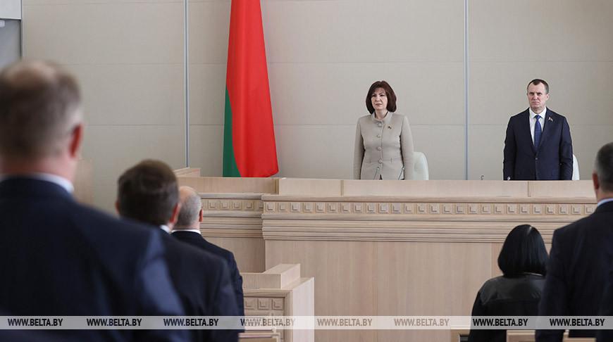 Наталья Кочанова во время открытия пятой сессии