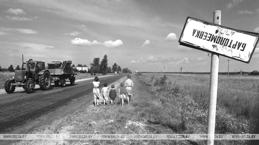 Чернобыльская зона. Деревня Бартоломеевка после аварии на ЧАЭС, сентябрь 1990 года