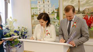Во время подписания