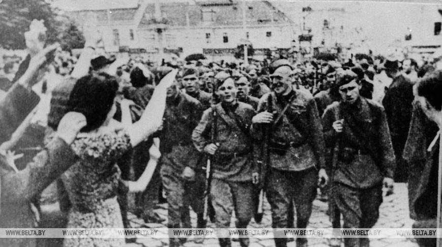 Встреча Красной Армии на Гродненщине, 1939 год