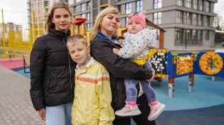 Надежда Гаркуша с детьми