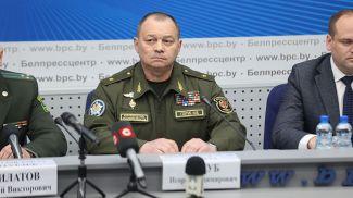 Игорь Голуб во время брифинга