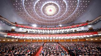На 19-м съезде Коммунистической партии Китая. Фото из архива Синьхуа - БЕЛТА