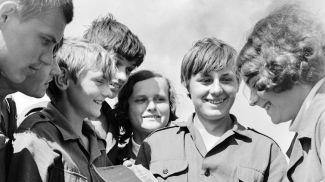 """Строительный отряд """"Зубренок-73"""". Гомель, 1973 год"""
