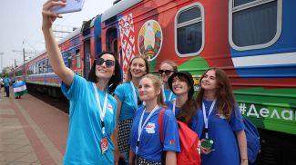 Участники проекта на железнодорожном вокзале в Гродно