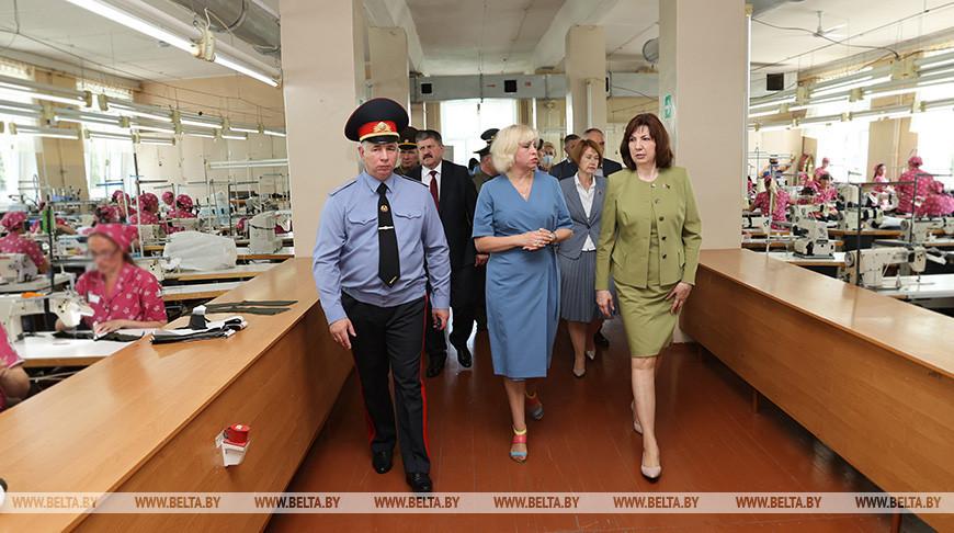 Во время посещения исправительной колонии №4 управления ДИН МВД по Гомельской области
