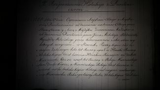 Фото из микрофильма реестра поставского архива Тызенгаузов