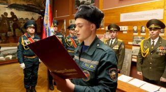 На церемонии принятия присяги