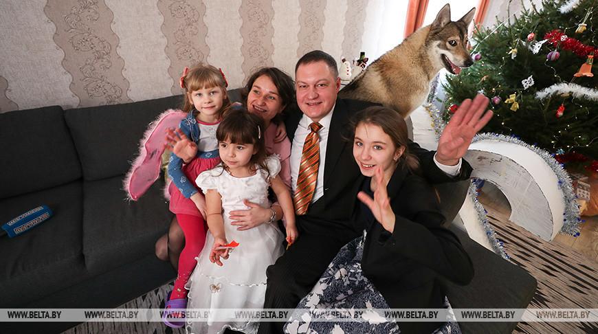Семья Козловых с воспитанниками