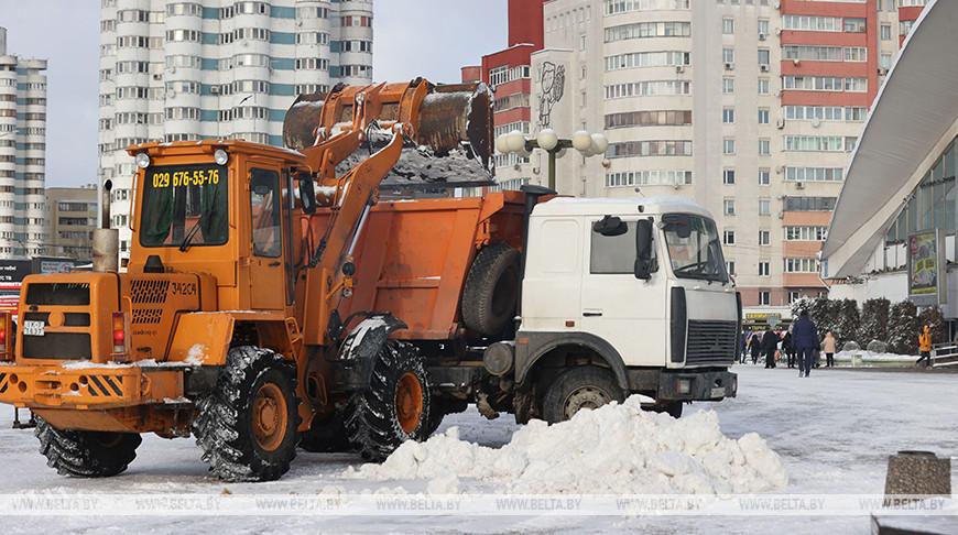 Во время уборки снега