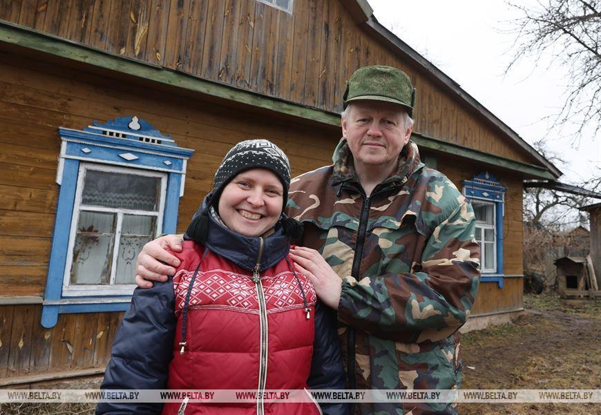 Алег Рудакоў з жонкай