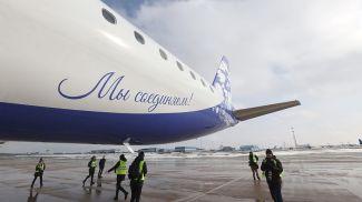 Embraer 195-E2 в юбилейной ливрее прибыл в Минск