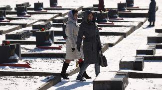 Во время акции памяти в Хатыни