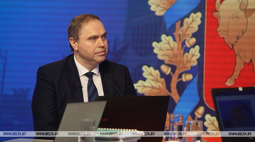 Владимир Караник во время прямого эфира