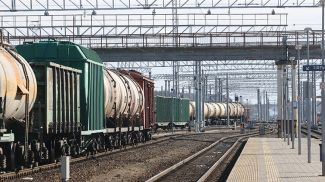 На железнодорожной станции Калинковичи