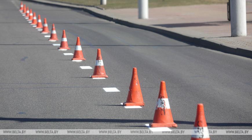 Дорожную разметку нанесут на 8 участках в Минске