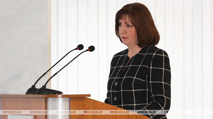 Наталья Кочанова во время встречи