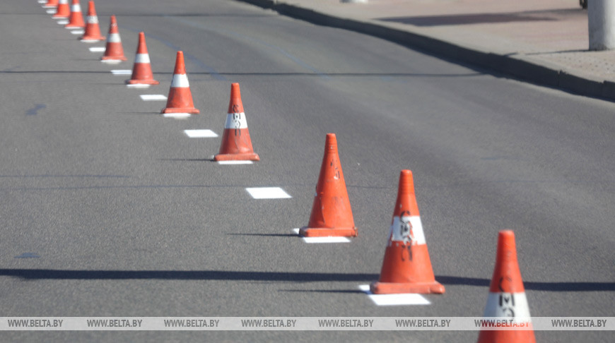 Дорожную разметку в Минске сегодня будут наносить на пяти участках