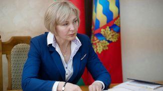 Ольга Чуприс во время приема граждан