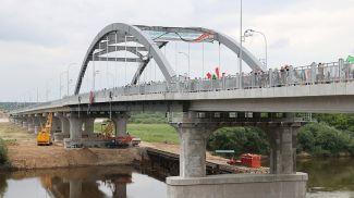 Новый мост через Днепр в Рогачеве