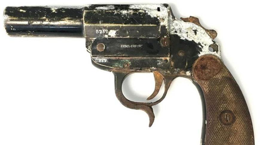 Немецкий сигнальный пистолет образца 1934 года нашли в Слониме