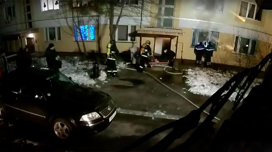 Скриншот из видео МЧС Гомельской области