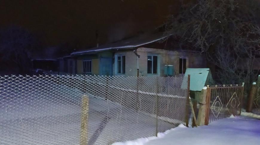 Пожар в городском поселке Ушачи. Фото МЧС